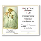 Traditional Memories First Communion Certificate