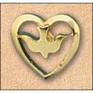 Dove in Heart Pin