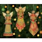 Pressed Tin Angels Ornament Assortment