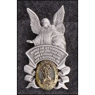 Guardian Angel/St Christopher Two-Tone Visor Clip Refill