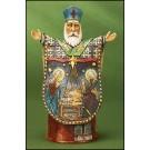 Wood-Cut St. Nicholas Nativity Figurine