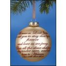 Away in a Manger Ball Ornament