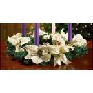 Advent Wreath with White Poinsettia