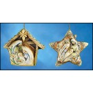Holy Family in Stable and Holy Family Star Ornaments