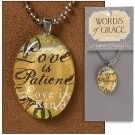 Love is Patient Pendant