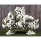 Three Angels on a Bench Garden Figurine