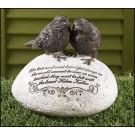 Pair of Birds Garden Stone