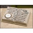 Open Bible-Shaped Tea Light Holder