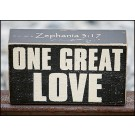 One Great Love Wood Block