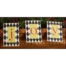 JOY Wood Letter Tags