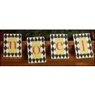 NOEL Wood Letter Tags
