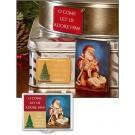 Adoring Santa Magnet Set