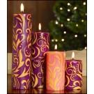 Decorated Advent Pillar Set