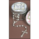 Baby Boy Keepsake Rosary in Tin