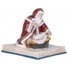 Adoring Santa on Bible Musical Figurine
