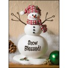 Snow Blessed! Snowman Figure