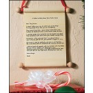 Letter to Baby Jesus Ornament/Scroll