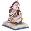 Adoring Santa on Bible Ornament