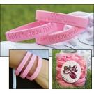 Pink Silicone Bracelet Assortment