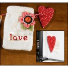 Hope Heart Magnet in Bag with Flower