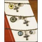 Vintage Charm Cross Dangle Bracelets